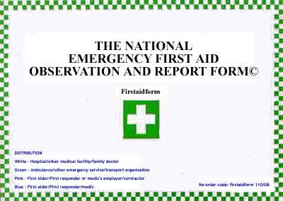 National Emergency First Aid Form