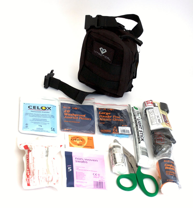 Individual First Aid Kit (Condor Rip Away EMT Lite) Black