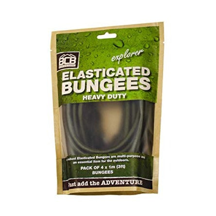 Olive Green Bungees (Pack of 4)