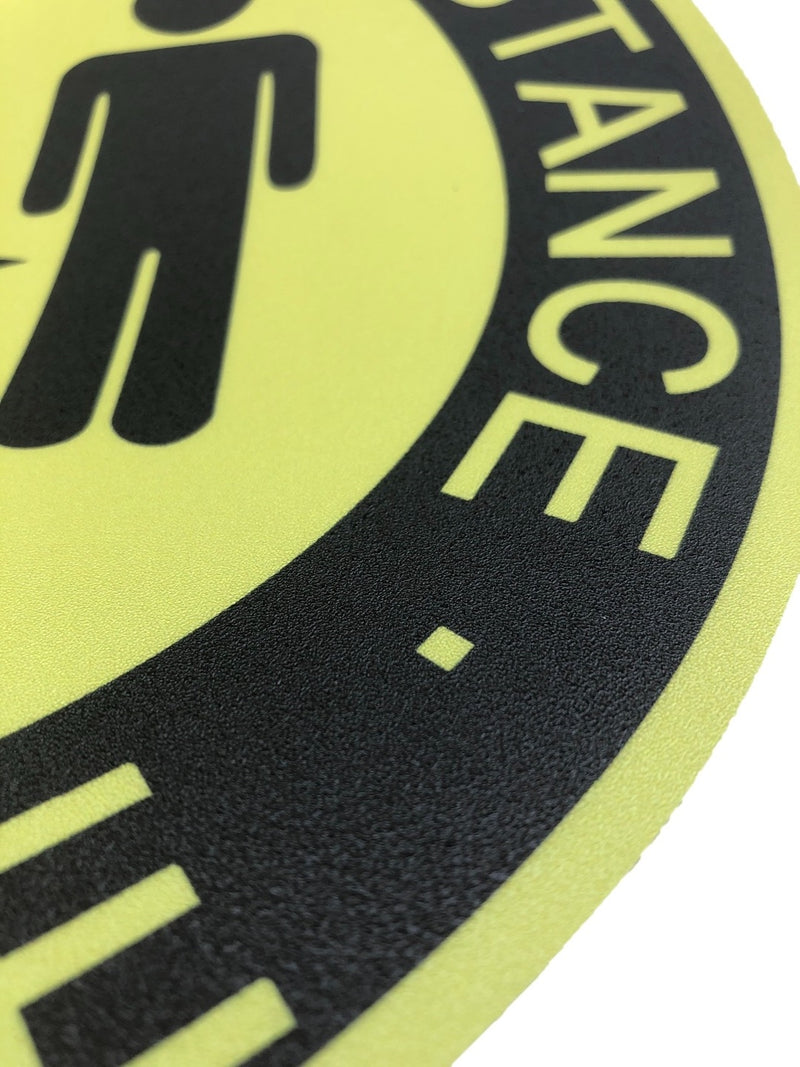 Social Distancing Floor PVC Stickers Yellow