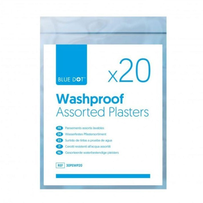 Plasters Washproof (Pack 20 assorted)