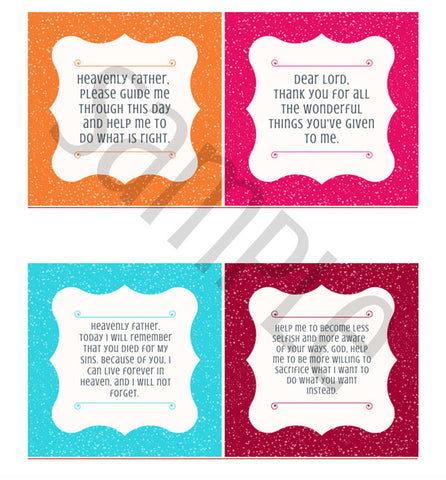 40 prayers in 40 days printable prayer cards sample