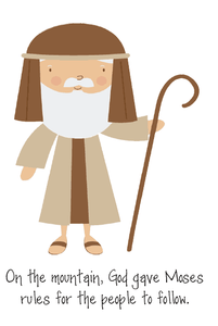 Moses & the 10 Commandments Printable Booklet for Kids
