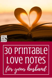 Love Note Challenge - 32 Printable Love Notes for Your Husband