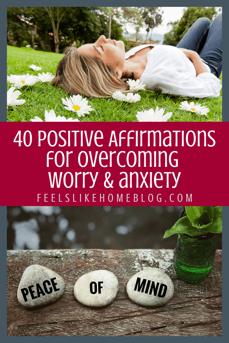 40 Printable Positive Affirmations for Christians with Anxiety