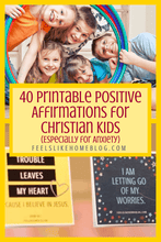 Load image into Gallery viewer, 40 Printable Positive Affirmations for Christian Kids (Especially for Anxiety)