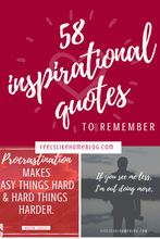 Load image into Gallery viewer, 58 Inspirational Quotes to Read & Remember