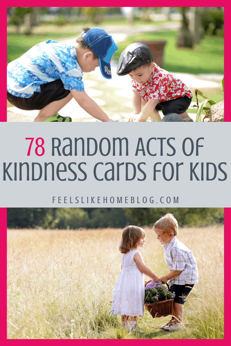 78 Random Acts of Kindness Cards for Kids