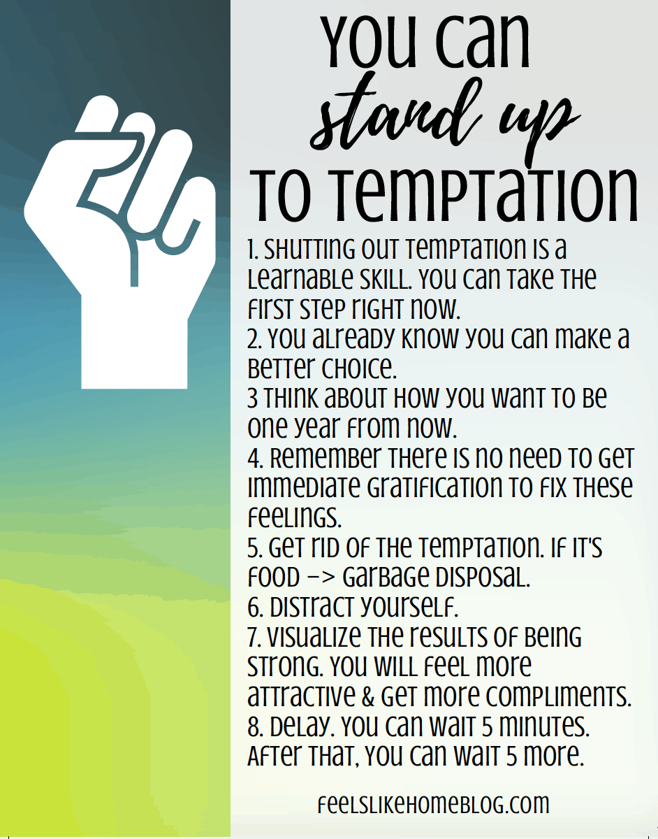 8 Tips to Resist Temptation