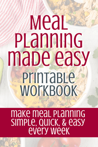 Meal Planning Made Easy Printable Planner & Workbook