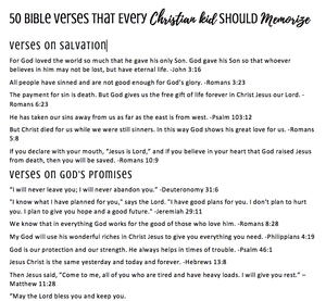50 Bible Verses Every Christian Kid Should Memorize