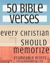 Load image into Gallery viewer, 50 Bible Verses Every Christian Should Memorize - 52 Frameable Prints