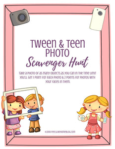 Photo Scavenger Hunt for Tweens & Teens