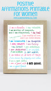 I am good affirmations printable