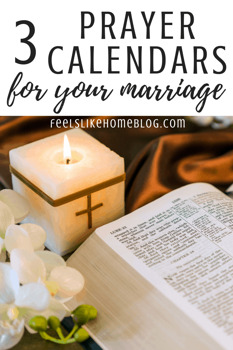 3 Topical Monthly Prayer Calendars for Your Marriage