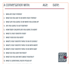 20 Interview Questions to Ask Your Kids