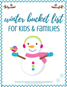 Winter Bucket List for Kids and Families