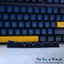 Load image into Gallery viewer, OSA KEYCAP midnight blue PBT KEYCAP two color injection customized ergonomic mechanical keyboard key cap