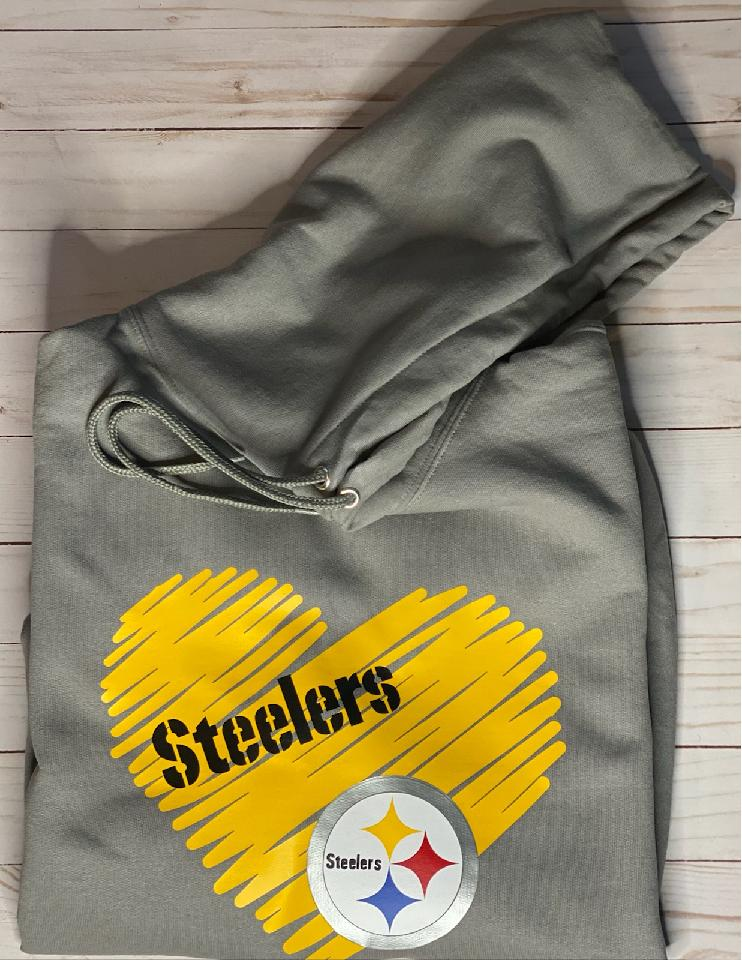 Pittsburgh Steelers Fleece Hooded Sweatshirt Heart