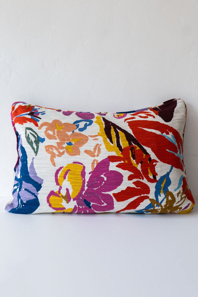 Epice Red Floral Pillow