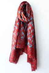 Colores de Otono Red Fish Scarf