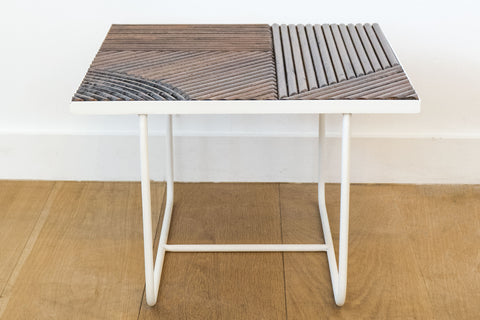 Honore Brown/White Small Paloma Table