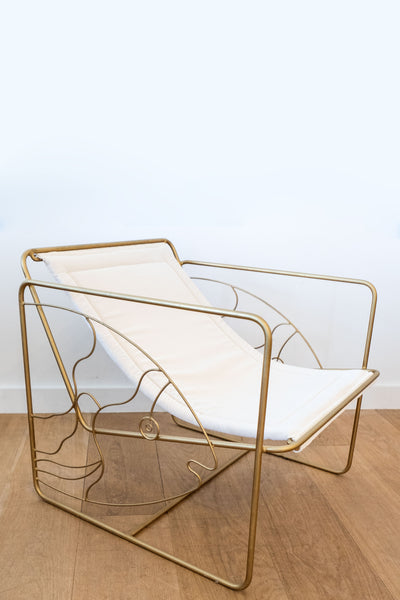 Honore White Fish Chair
