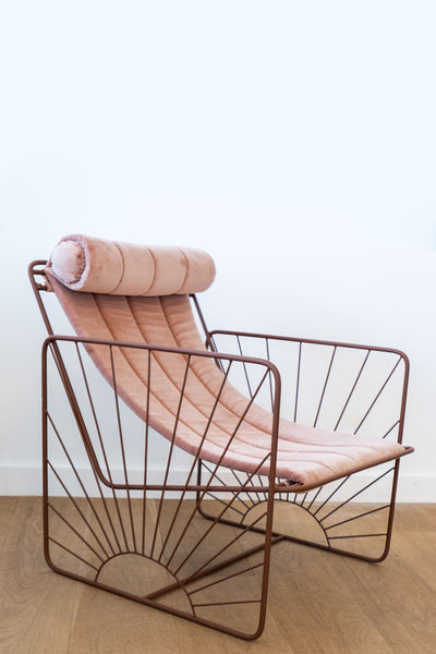 Honore Rose/Bronze Soleil Chair