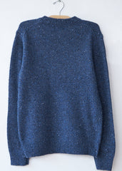 Hartford Blue Donegal Crew Sweater