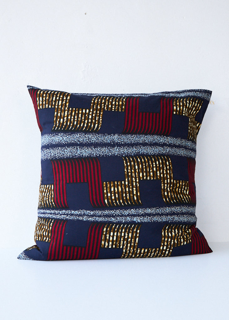 Csao Navy/Gold/Red Lines Pillow