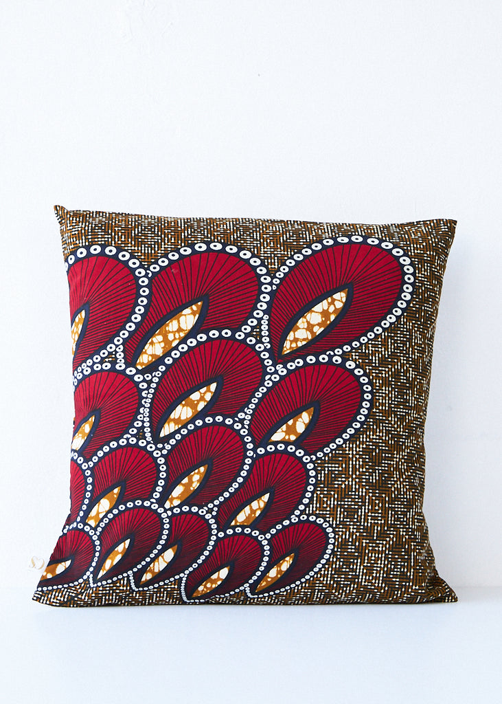 Csao Brown/Red Pillow