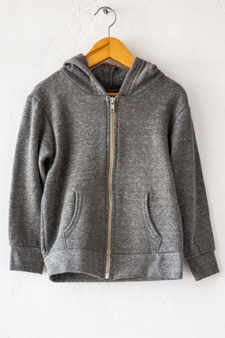 lucky fish grey thunderbolt hoody
