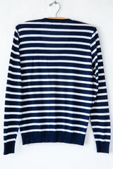 lost & found navy/white stripe v neck sweater