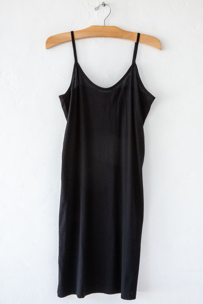 lost & found black slip dress