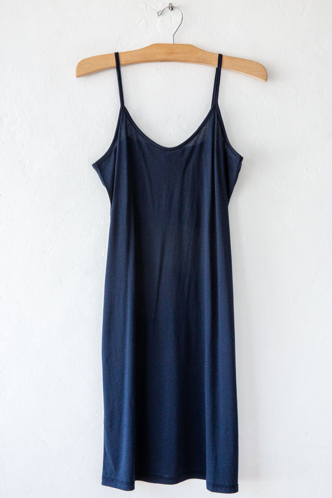 lost & found navy slip dress