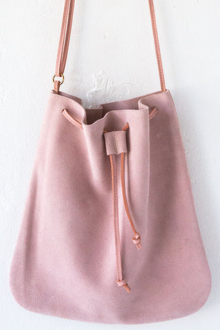 d/e goods petal suede cross body bag