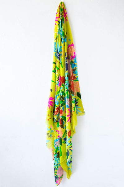 Epice Lime Floral Scarf