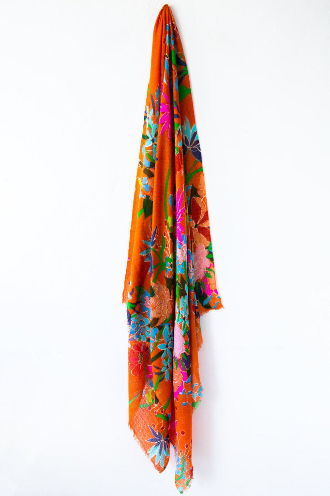 Epice Orange Floral Scarf