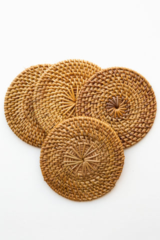 Ceremonia Rattan Coaster