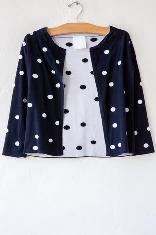 MJ Watson Navy Bubble Cardigan