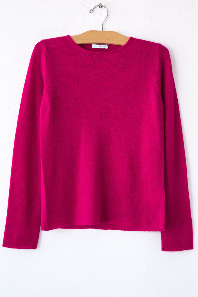 lost & found cashmere cardinal classic sweater