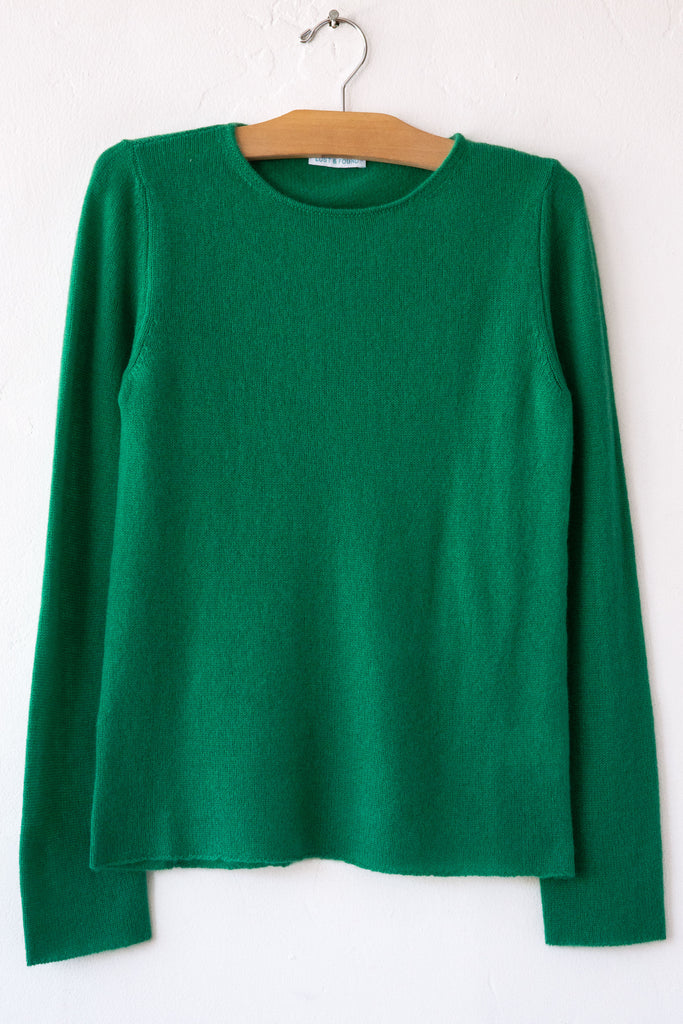 lost & found cashmere emerald classic sweater