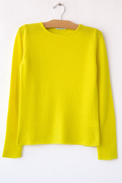lost & found cashmere yellow classic sweater