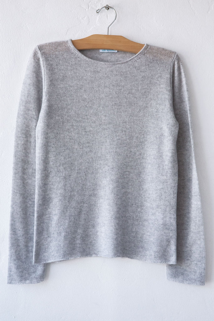 lost & found cashmere steel classic sweater