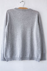 lost & found cashmere steel boy side vent sweater