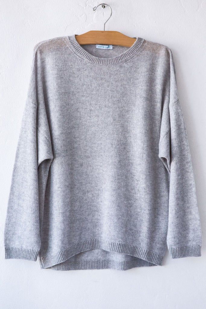 lost & found cashmere steel dolman sleeve sweater