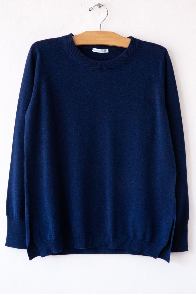 lost & found cashmere bluette boy side vent sweater