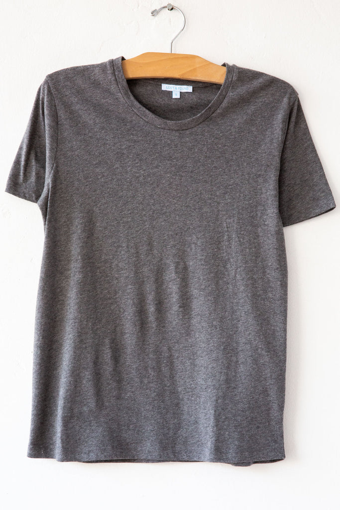 lost & found heather grey basic short sleeve tee