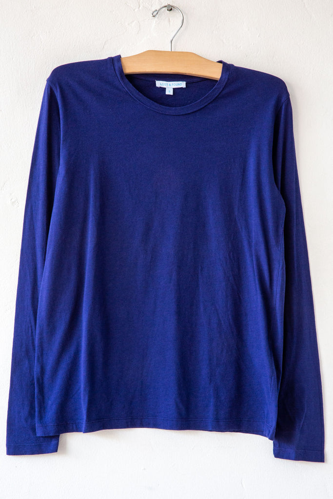 lost & found indigo long sleeve tee