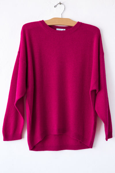 lost & found cashmere cardinal dolman sleeve sweater